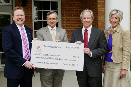CSM College of Southern Maryland donation, frank chaney