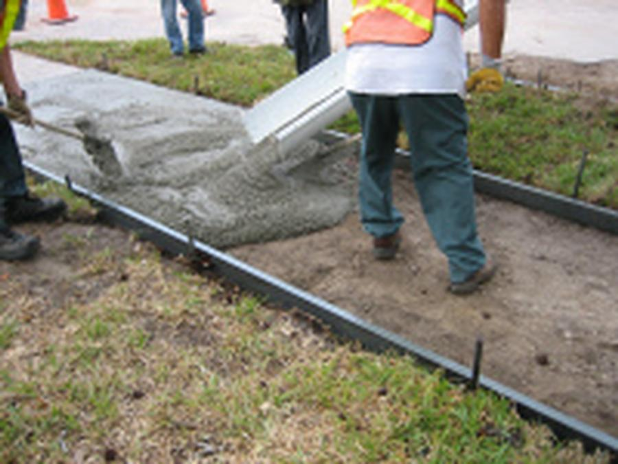Sidewalk Form Poly Rigid 4 X 12