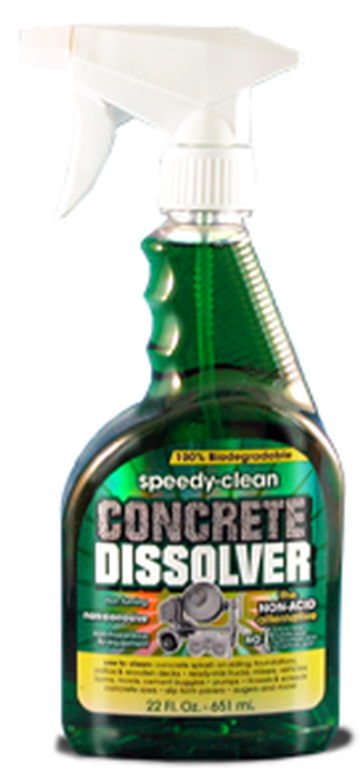 Speedy clean concrete dissolver 22oz spray for Spray on concrete cleaner