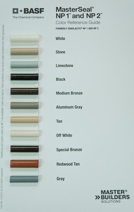 Masterseal Np1 Color Chart Best Picture Of Chart Anyimage