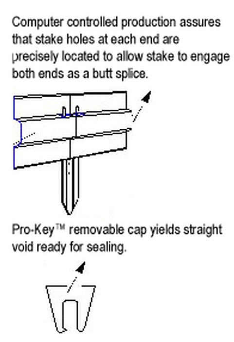 Joint Key Concrete : Metal screed key control joint quot x