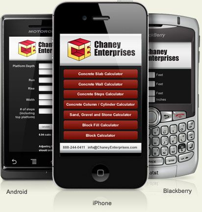 Chaney enterprises launches smartphone calculators for for New construction calculator