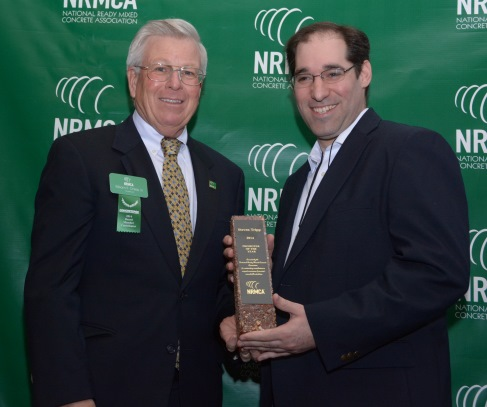 Steven Tripp (Right) 2014 National Concrete Promoter of the Year with NRMCA Chair, Bill Chils (Left)