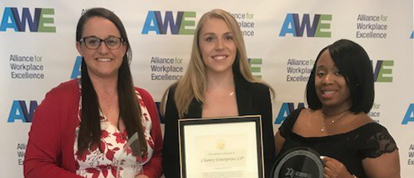 Chaney Wins Alliance for Workplace Excellence Award